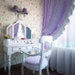 столик для макияжа с зеркалом виды декора