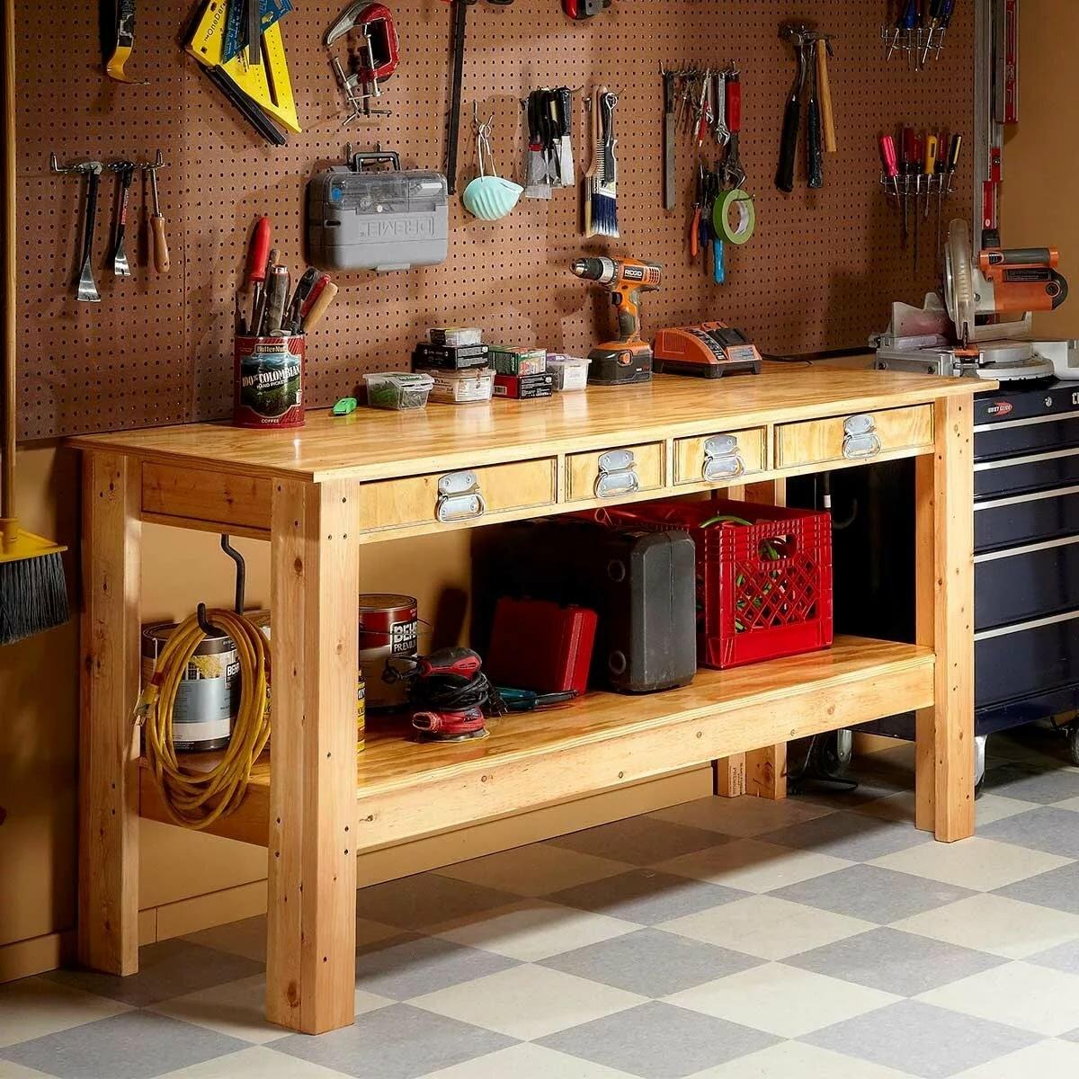 столярный стол дизайн