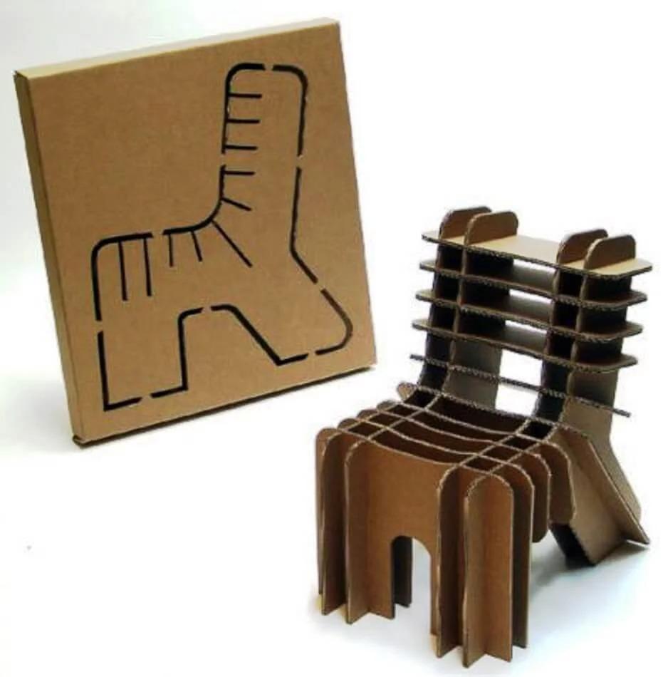 стул картонный