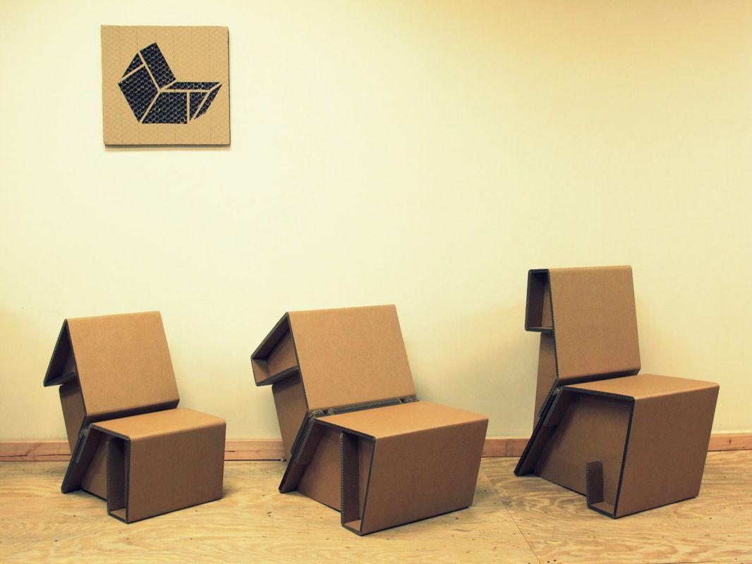 стулья из картонных коробок