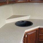 стык кухонной столешницы с сегментом