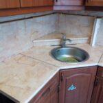 стык столешницы на кухне трапеция идеи фото