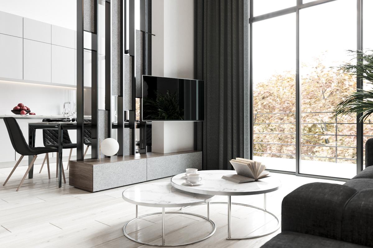 темная мебель в светлой комнате дизайн идеи