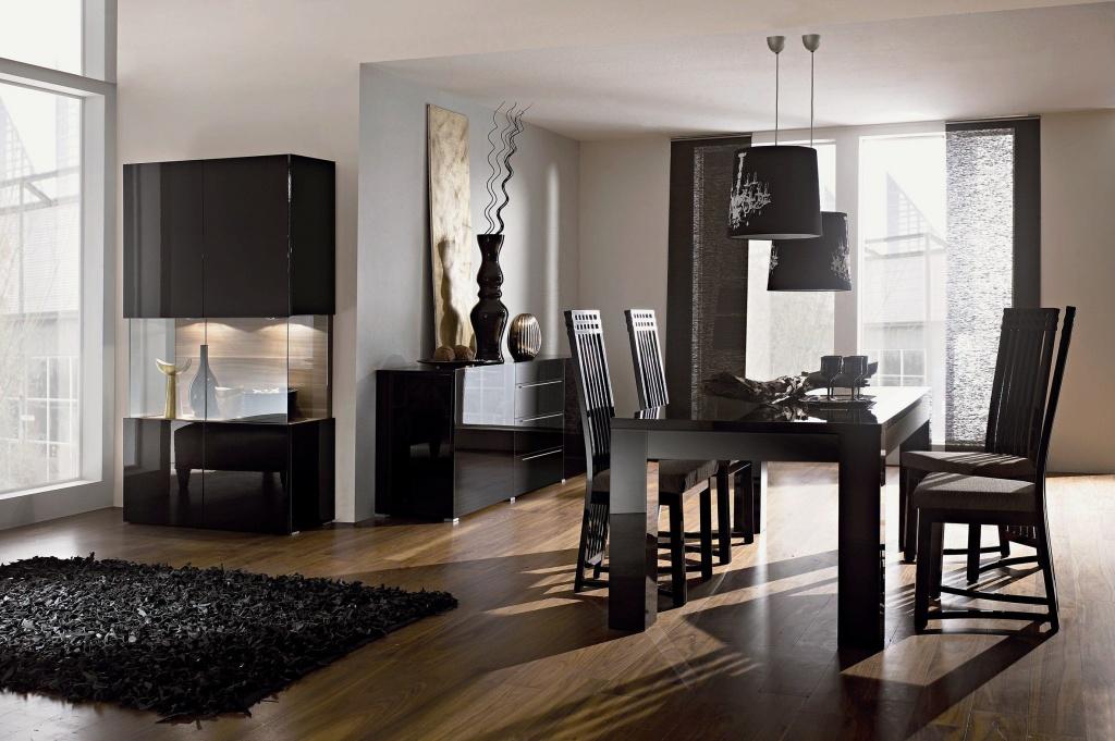 темная мебель в светлой комнате фото дизайна