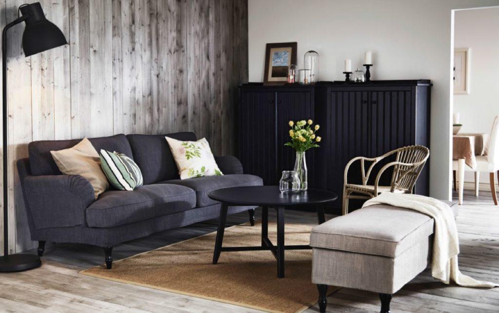 темная мебель в светлой комнате фото идеи