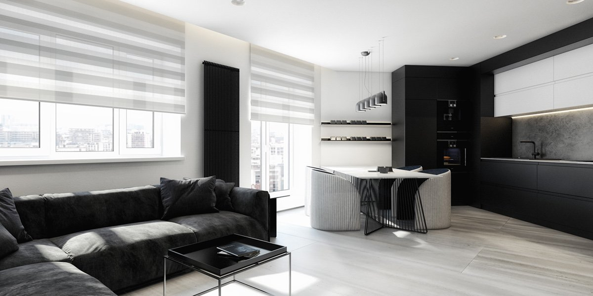 темная мебель в светлой комнате идеи дизайна
