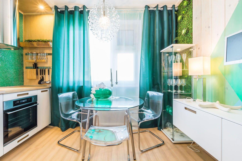 тонкие шторы для кухни