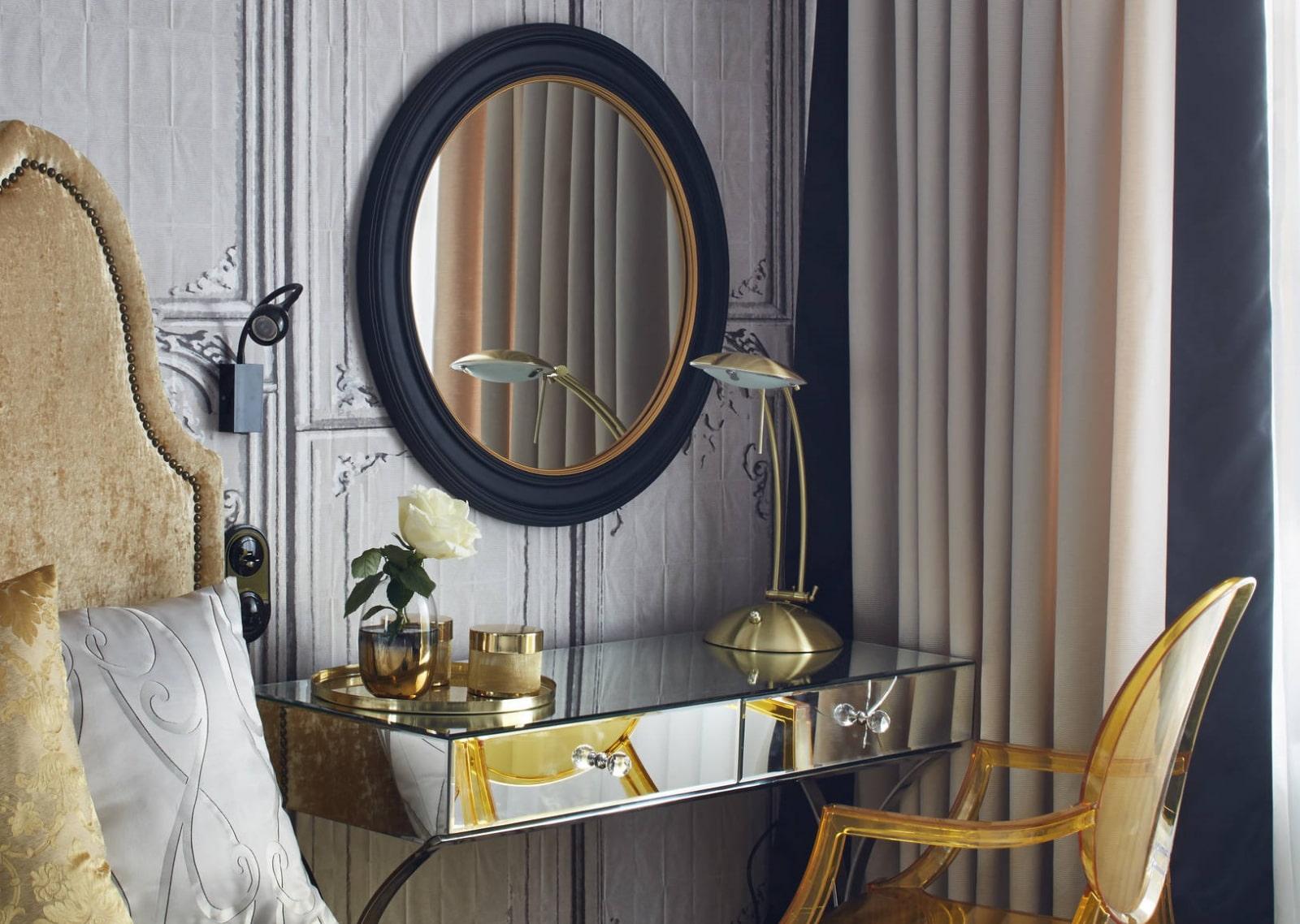 столик для макияжа с зеркалом оформление фото