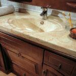 тумба с раковиной для ванной интерьер