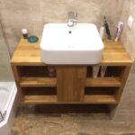 тумба с раковиной для ванной интерьер фото