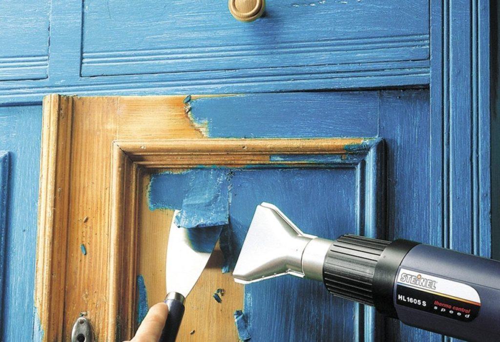 удаление старого покрытия с мебели