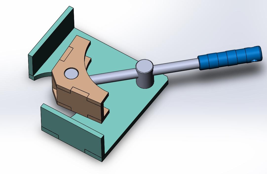 угловая струбцина для мебели схема