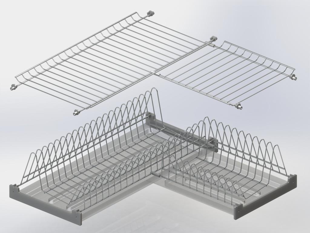 угловая сушилка для посуды фото дизайна