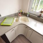 угловая тумба под мойку на кухню дизайн фото