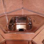 угловая тумба под мойку на кухню фото интерьер