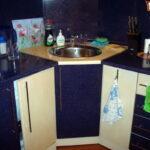угловая тумба под мойку на кухню идеи фото