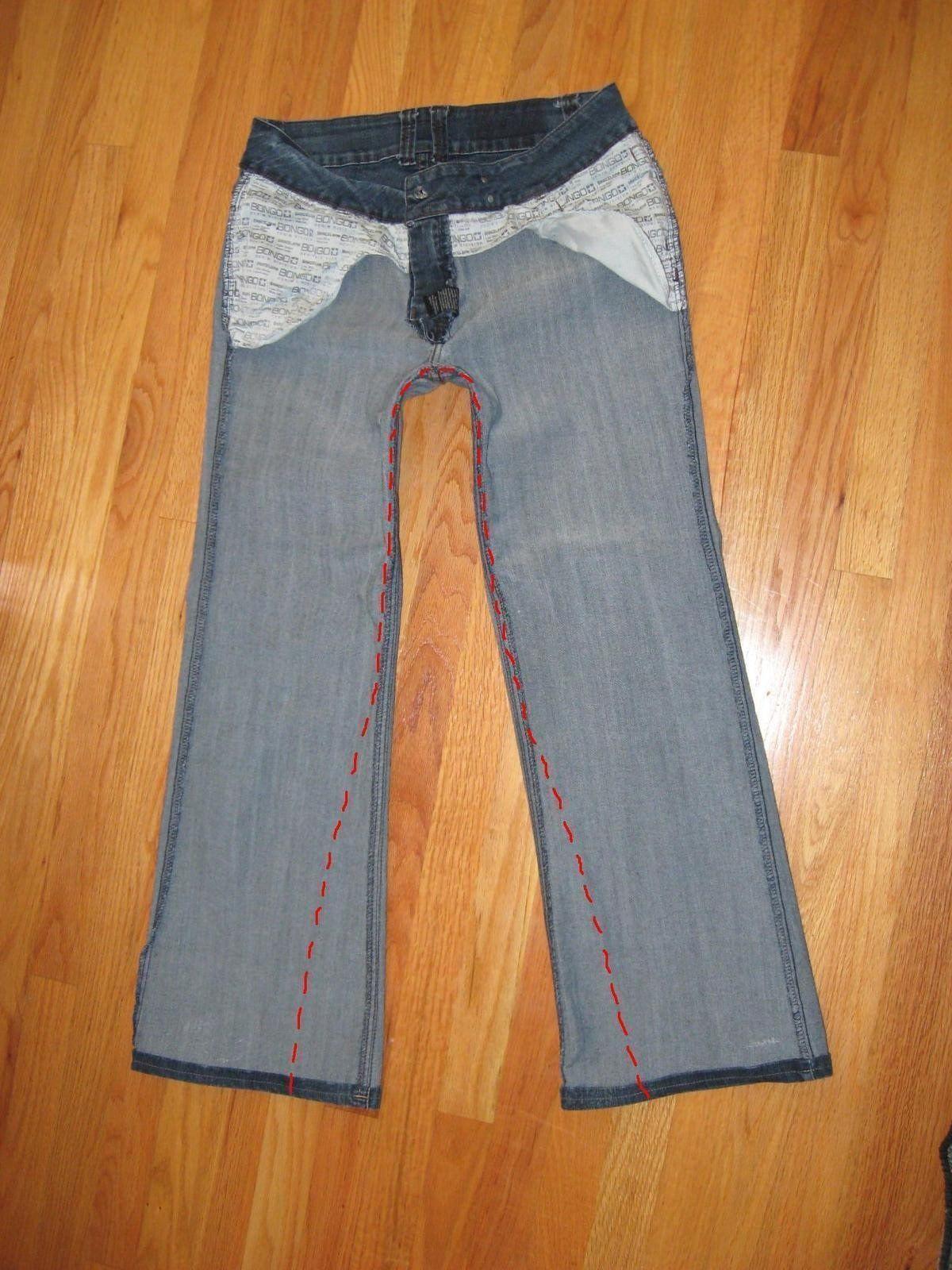 переделать клеш в прямые брюки