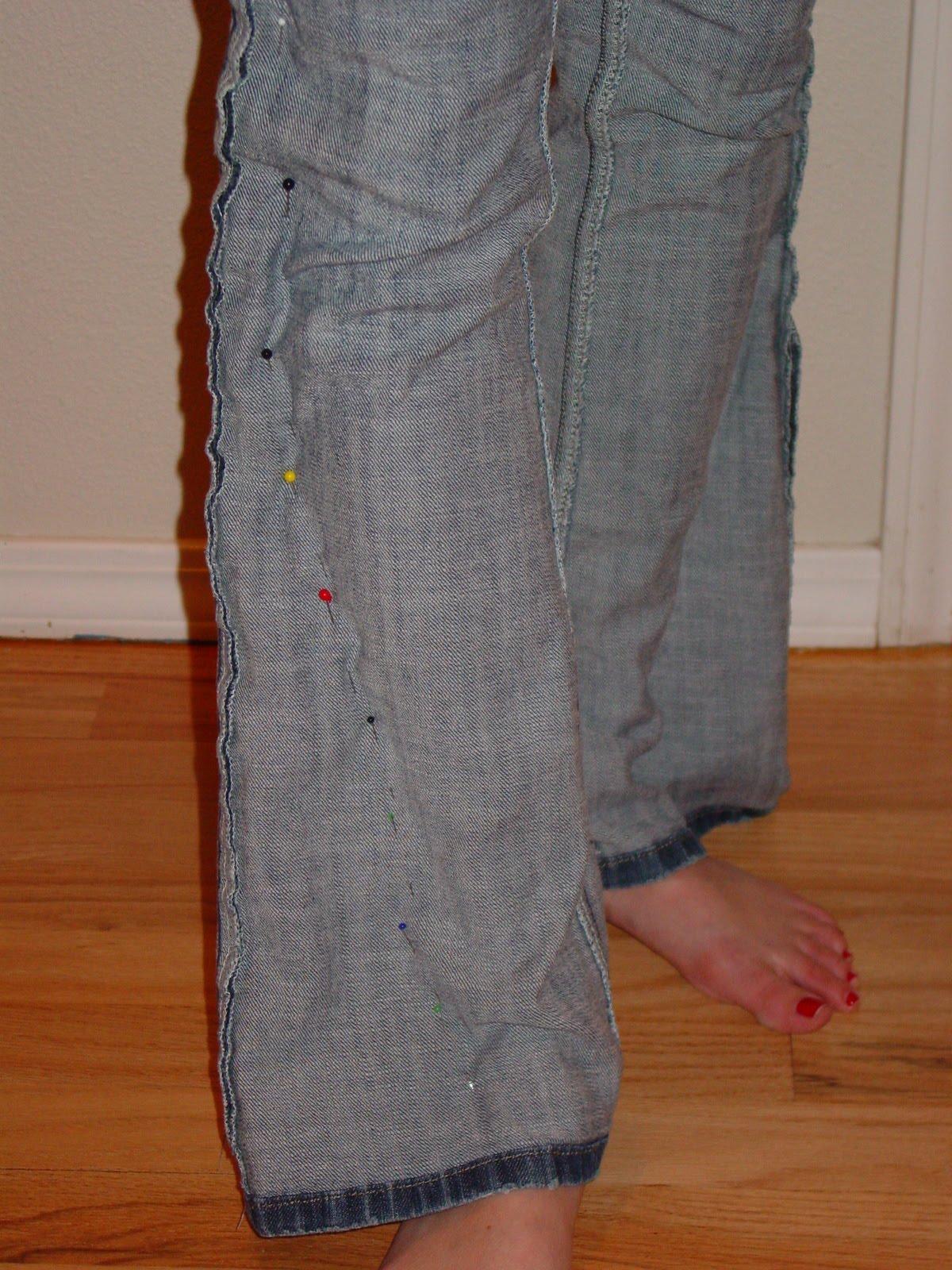 ушить брюки по бокам