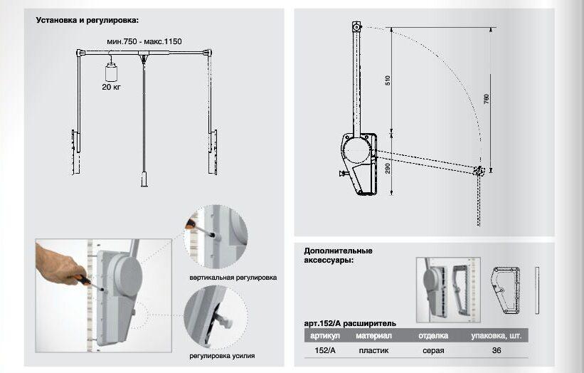 установка мебельного лифта