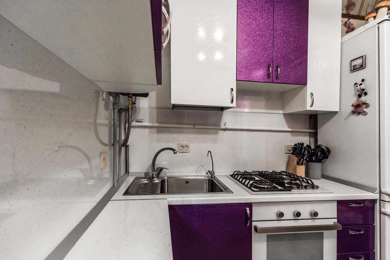 интерьер кухни с газовым котлом