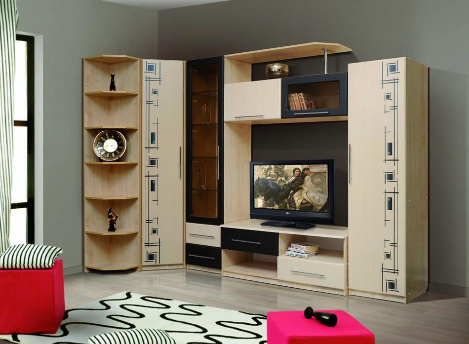 выбор мебельной стенки к интерьеру