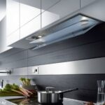 встроенная вытяжка для кухни идеи дизайна