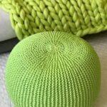 вязаный пуф зеленый