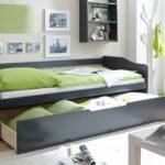 выдвижная кровать серая