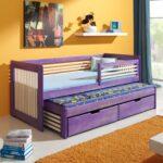 выдвижная кровать фиолетовая