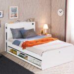 выдвижная кровать с книгами