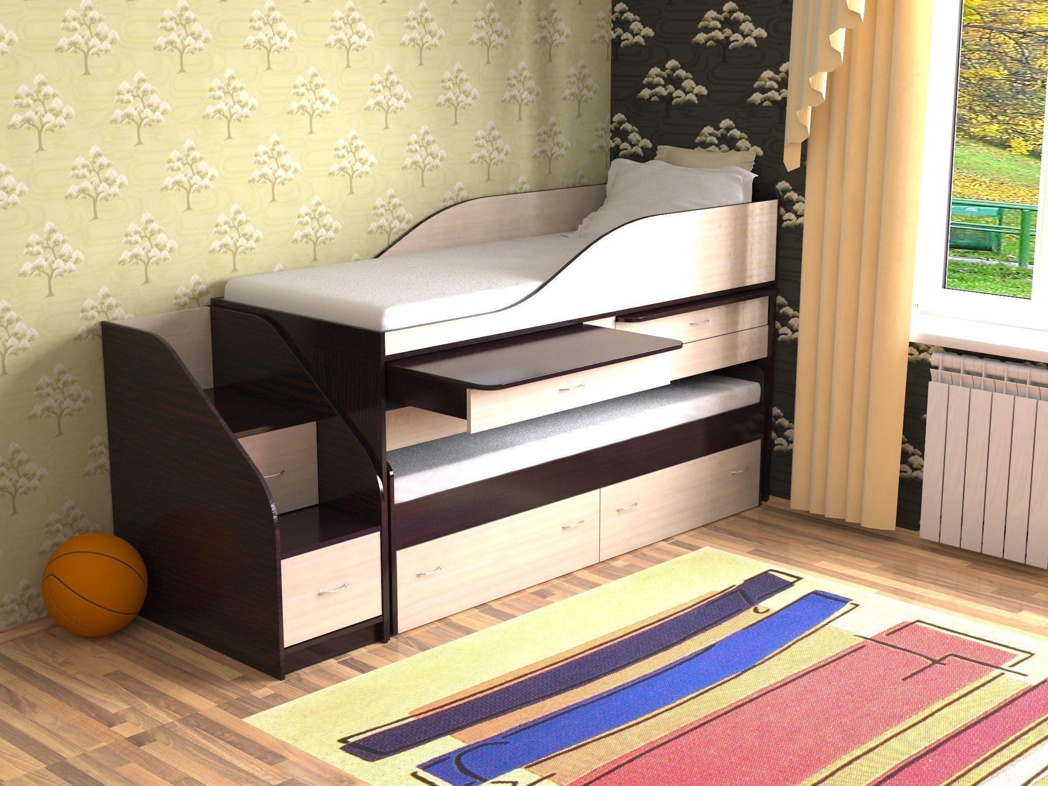 выдвижная кровать со столом
