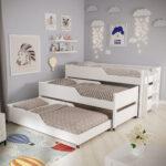 выдвижная кровать трехэтажная