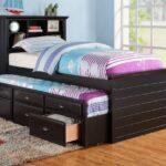 выдвижная кровать коричневая с ящиками