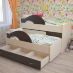 выдвижная кровать с серыми бортиками