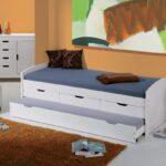 выдвижная кровать белая с серым
