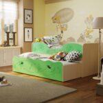выдвижная кровать зеленая