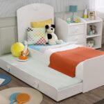 выдвижная кровать оранжевая