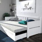 выдвижная кровать с надписью