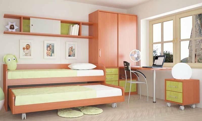 двухъярусная выдвижная кровать для подростков