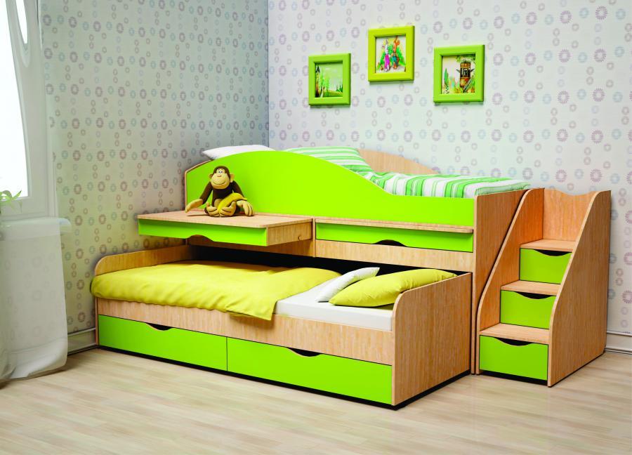 выдвижная кровать со шкафами