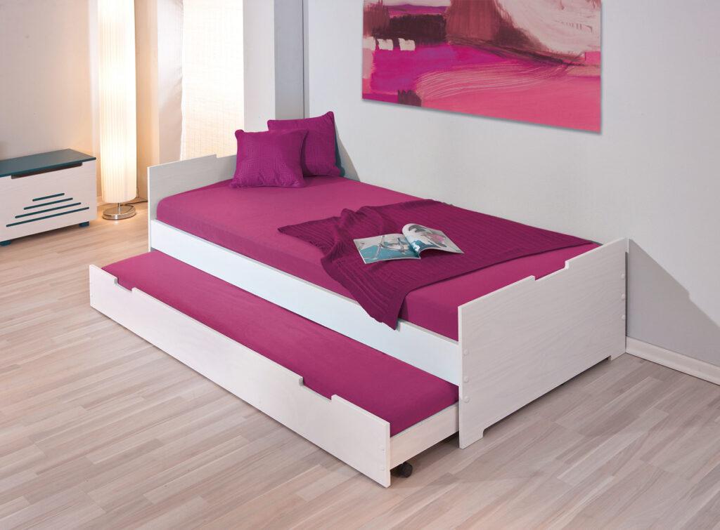 простая выдвижная кровать для детей