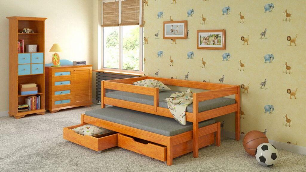 деревянная выдвижная кровать