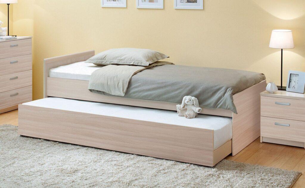 как расположить выдвижную кровать
