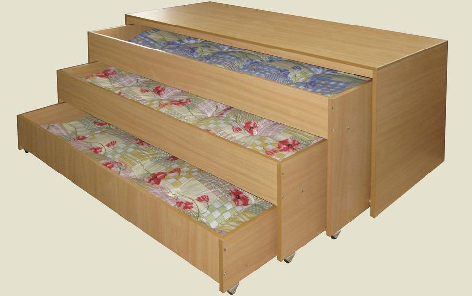 трехъярусная кровать