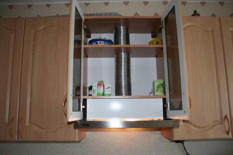 вытяжка в шкаф на кухне