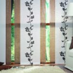 японские шторы с плющом