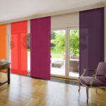 японские шторы разноцветные