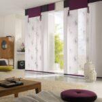 японские шторы белые с фиолетовым
