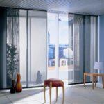 японские шторы с табуретками
