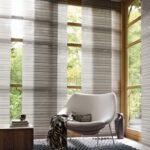 японские шторы с креслом